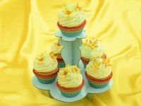 Cupcake Etagere blau