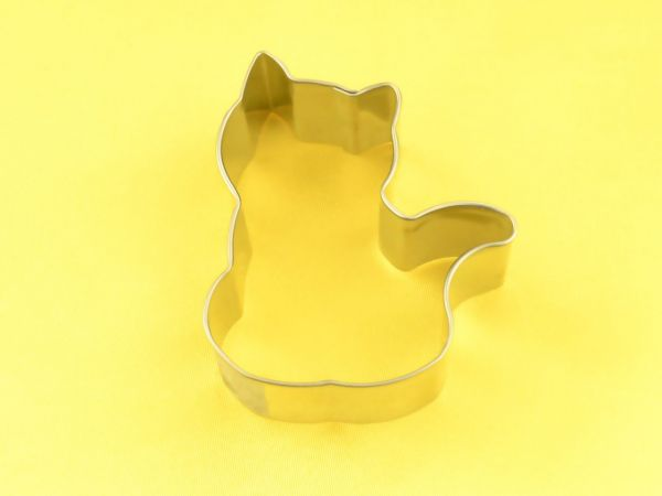 Ausstecher Katze sitzend 6cm