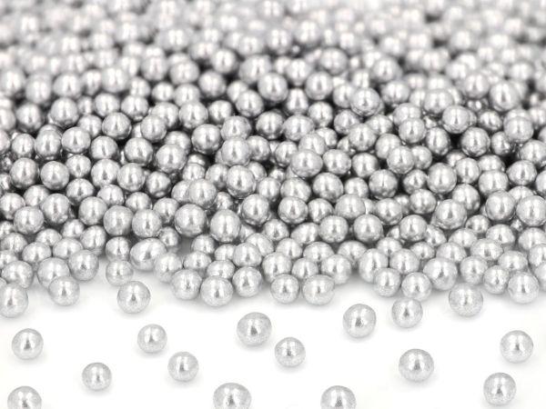 Silberperlen klein, Zucker 50g