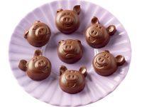 Silikon-Pralinenform Choco Pigs
