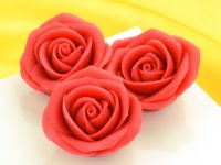 Marzipan-Rosen groß rot 2 Stück