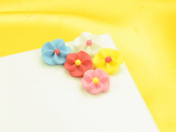 Randgarnierblumen Zucker 25 Stück