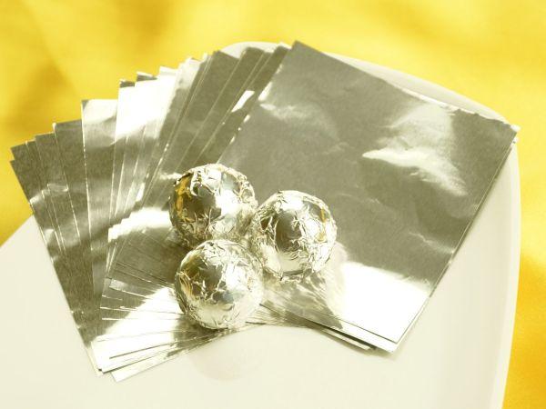 Wickelfolie silber 50 Blatt