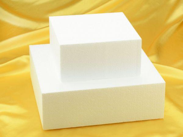 Torten-Dummy Quadrat 25cm, Höhe: 10cm