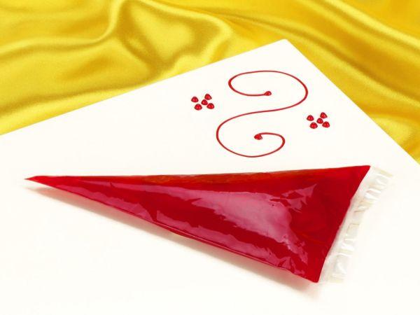 Garnierschrift rot 70g