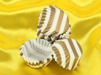 Pralinenkapseln 25mm weiß-gold 100 Stück