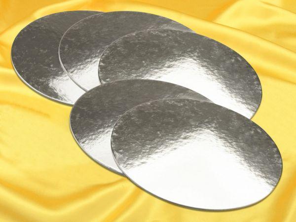 Silver Plate 28cm silber glänzend 5 Stück