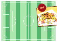 Tortenaufleger Fußballfeld A4 und Streudekor Fußballschuhe 80g
