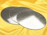 Silver Plate 30cm silber glänzend 3 Stück