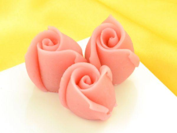 Marzipan-Rosen klein rosa 36 Stück