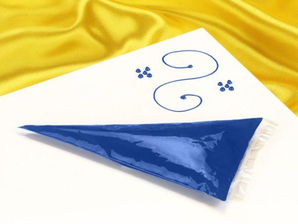 Garnierschrift blau 70g