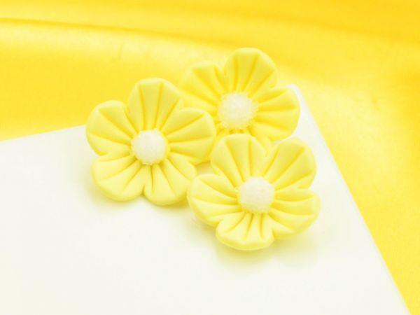 Blumen 25mm gelb Zucker 16 Stück