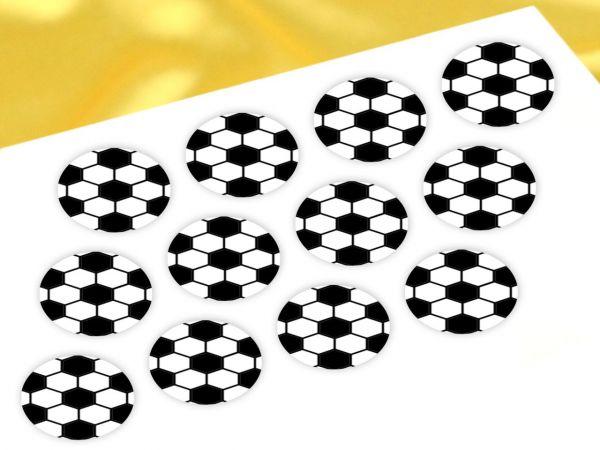 Cupcake Buttons Fußball 12 Stück