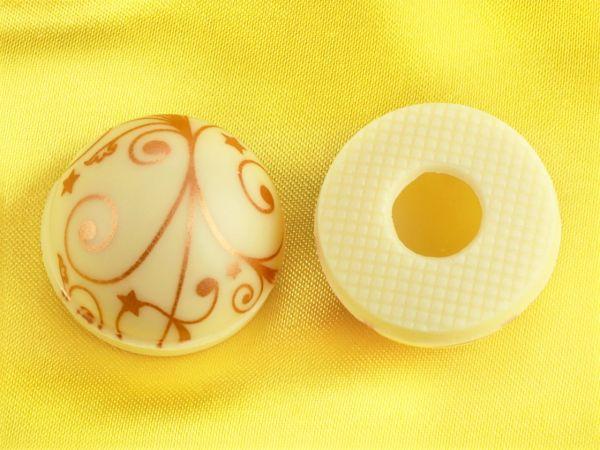 1 Folie Halbkugeln mit Ornamenten Weiß