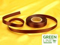 Satinband braun 14mm, 30 Meter GREENLINE