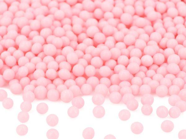 Weiche Zuckerperlen rosa glimmer 100g