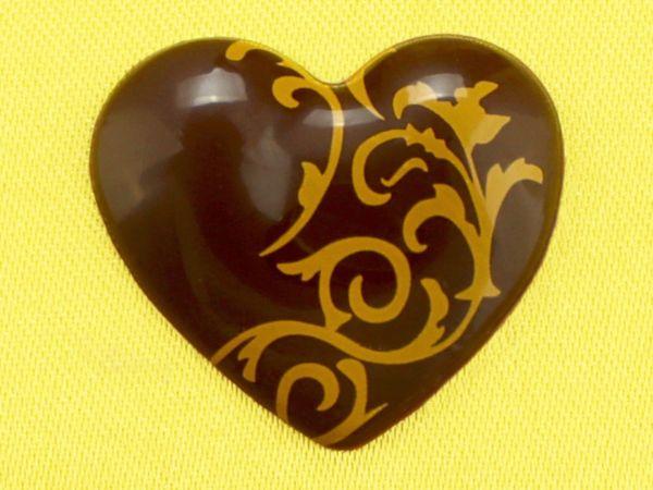 1 Folie Aufleger Herz Zartbitter