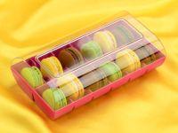Macaron Verpackung fuchsia 12er