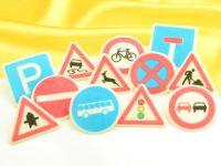 Verkehrszeichen Dekoraufleger 12 Stück