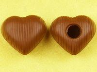 1 Folie Herz-Hohlkörper Medium Vollmilch