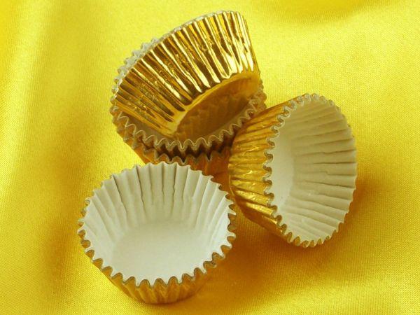 Pralinenkapseln 25mm gold 60 Stück