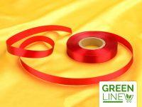 Satinband rot 14mm, 30 Meter GREENLINE