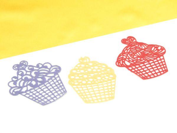 Spitzendekor-Matte Cupcakes