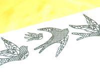 Spitzendekor-Matte Birds