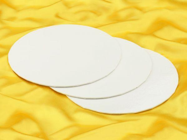 Cakecard rund 28cm weiß 3 Stück