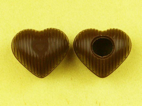 1 Folie Herz-Hohlkörper Mini Zartbitter