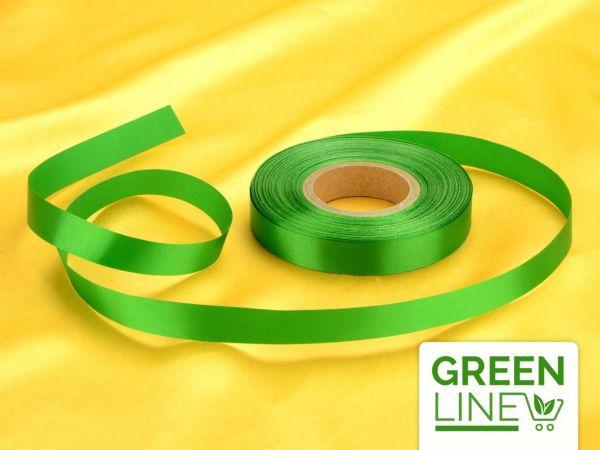 Satinband grün 14mm, 30 Meter GREENLINE