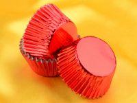 Muffinkapseln 50mm Alu rot 60 Stück