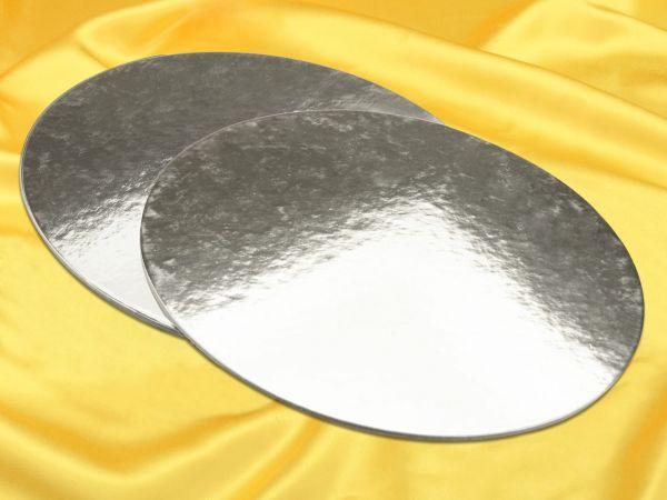 Silver Plate 35cm silber glänzend 2 Stück