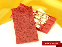Schokoladentafel Liebesbrief Rezeptkarte