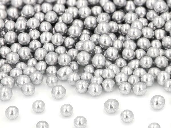 Silberperlen groß, Zucker 50g