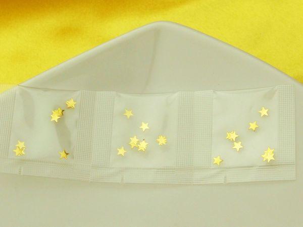 Minibeutel Stern gold 3er Pack