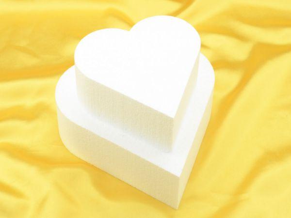 Torten-Dummy Herz 20cm, Höhe: 7cm