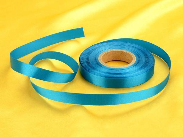 Satinband blau 14mm, 30 Meter