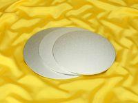 Cakeboard rund 30cm silber 4mm