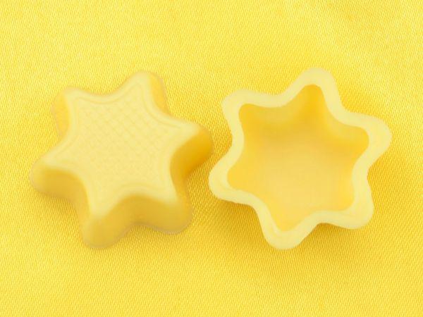 1 Folie Stern-Schalen Weiß
