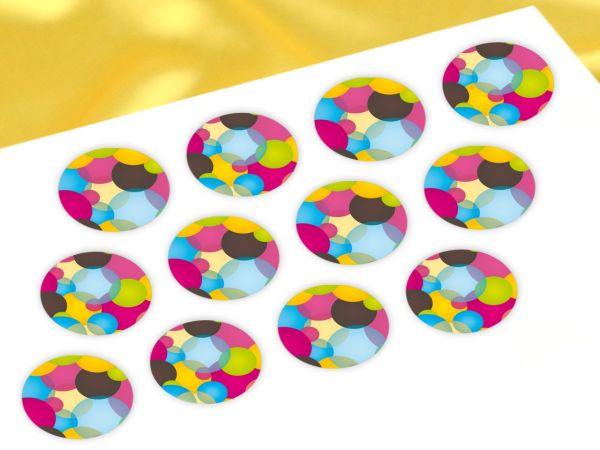 Cupcake Buttons Kreise 12 Stück