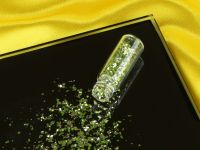 Mini-Flacon Flitter grob silber-grün