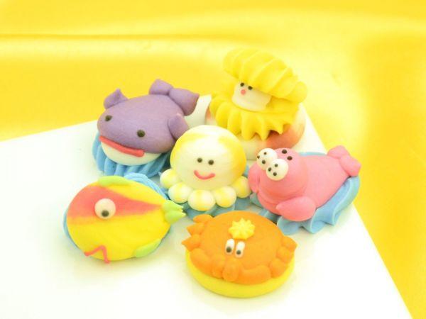 Tiere aus dem Meer Zucker 6 Stück