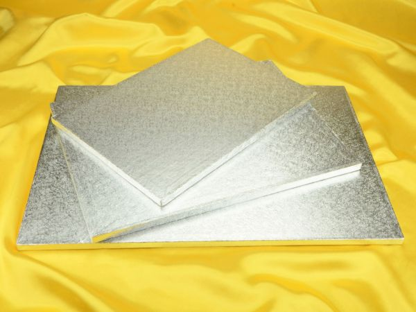 Cakeboard rechteck 51x36cm silber
