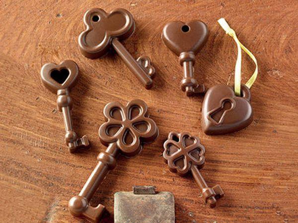 Silikon-Pralinenform Schokoladen-Schlüssel