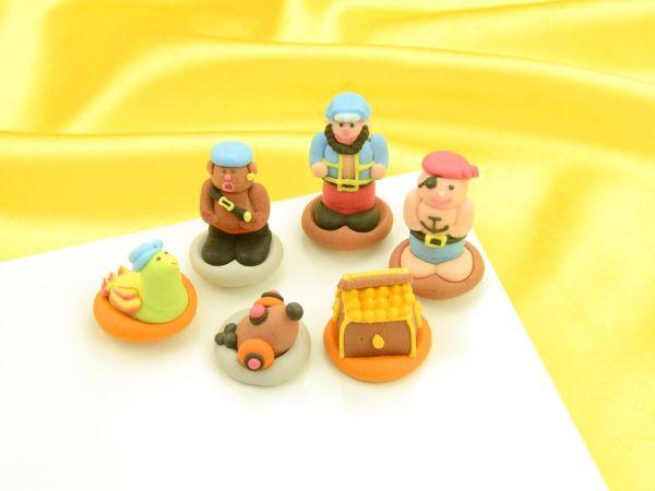 Piraten Zucker 6 Stück