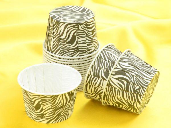 Cupcake Becher Zebra 20 Stück