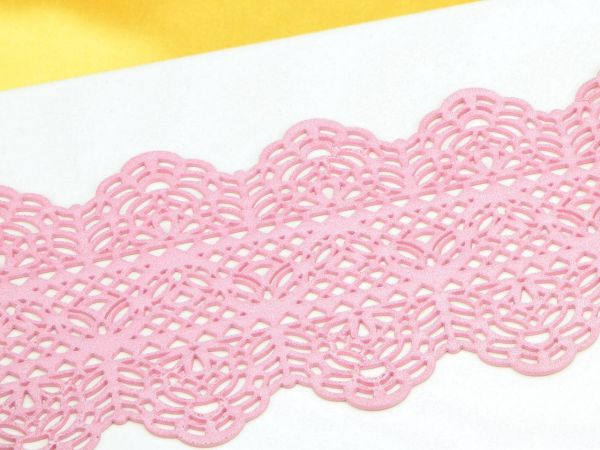 Spitzendekor Dentelle rosa